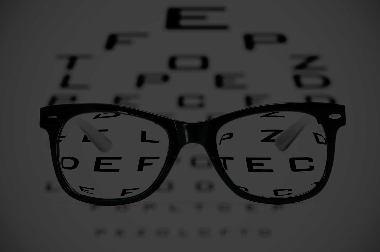 Snellen Chart With Eyeglasses